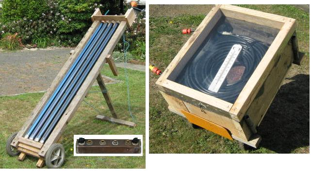 Four heat pipe glass solar collectortubes with homemade for Diy solar collector